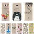 Для Samsung Galaxy J5 2015 J3 A3 A5 2016 S7 Край Ясно Silicon Case Ультра Тонкий Гибкий Задняя Крышка ТПУ w Париж Башня Cat единорог