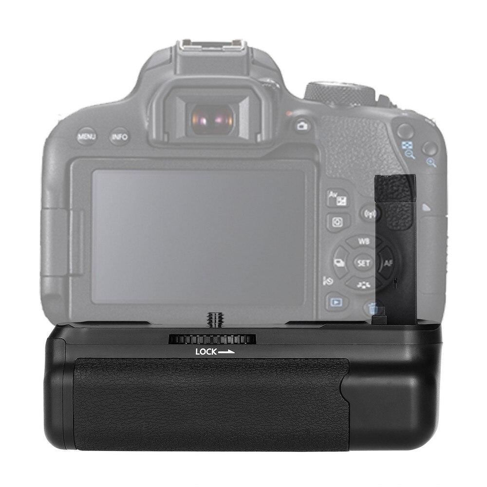 Poignée de batterie verticale multi-puissance spash pour Canon 800D rebelle T7i 77D Kiss X9i DSLR support de batterie pour appareil photo fonctionne avec LP-E - 2