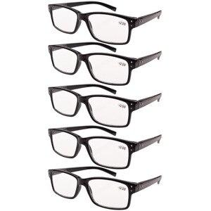 Image 5 - R032 окуляр 5 pack пружинные петли винтажные очки для чтения мужские включает в себя солнечные считыватели + 0,00     + 4,00
