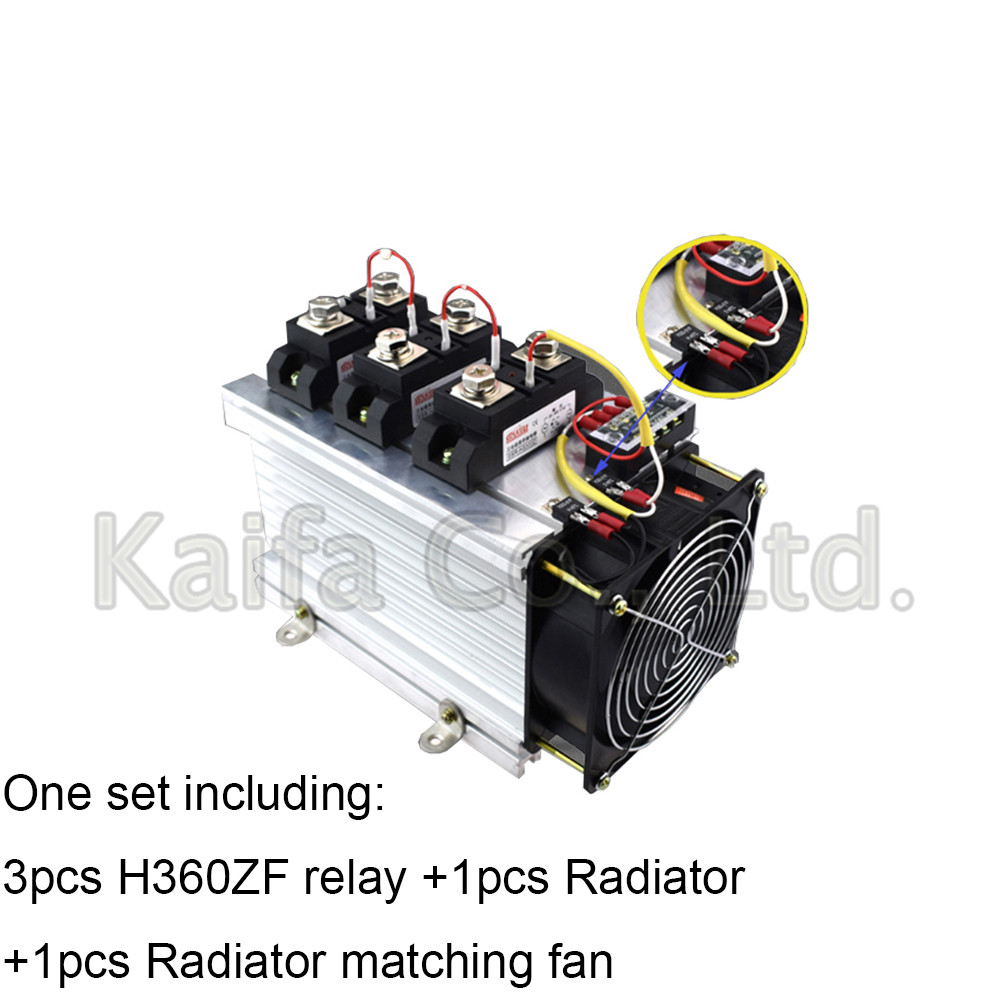 H360ZF-3 three phase DC to AC 60A 4-32VDC industrial grade solid state relay set/SSR set Not incluidng tax h3120zf 3 three phase dc to ac 120a 4 32vdc industrial grade solid state relay set ssr set not incluidng tax