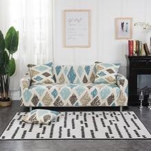 d607fb2436a Polka Dot azul cubierta de sofá elástico para muebles de sala Protector  fundas para sillones sofá