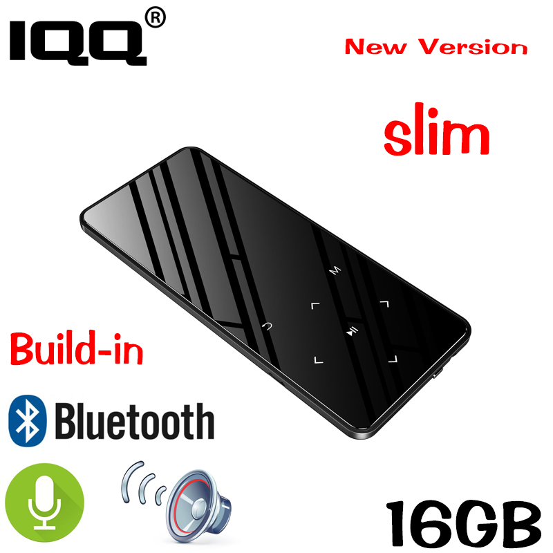IQQ Bluetooth 4.2 touch screen MP3 player Bulit-in 16GB HIFI Lossess Portable Slim MP3 player with FM/ Record suite for running