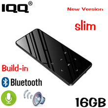 IQQ Bluetooth 4.2 touch screen MP3 player Bulit-in 16GB HIFI  Lossess Portable Slim MP3 player with FM/ Record suite for running цена и фото
