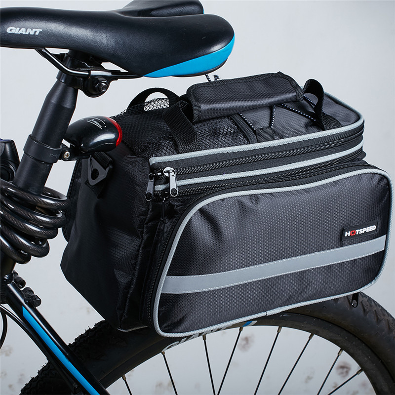 цена на Waterproof Mountain Road Bicycle Bike Bag Cycling Double Side Rear Rack Tail Seat Trunk Bag Pannier seat bag for bike