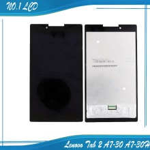 Original voll lcd display + touchscreen digitizer glass assembly für lenovo tab 2 a7-30 a7-30hc, freies Verschiffen