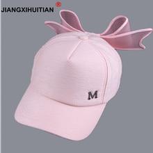 jiangxihuitian summer Korea Spring M mark Pink with big bow baseball caps  women 47c25b56b1e5
