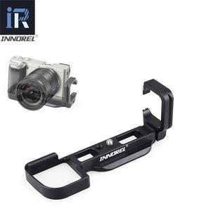 Image 1 - INNOREL LB A6000 L Tipi Alüminyum Alaşımlı Hızlı Bırakma Plakası için Tripod Dikey L Braketi El Kavrama Özel Kullanım Sony a6000
