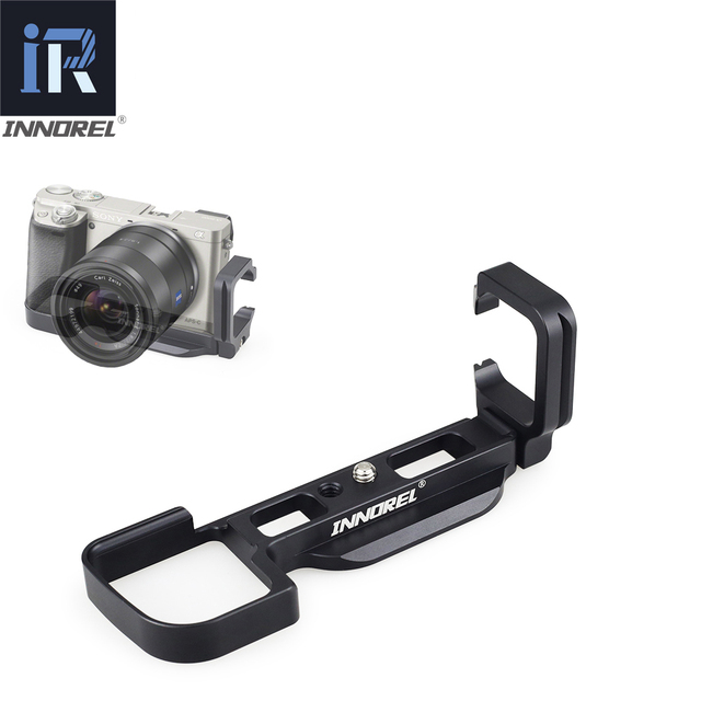 INNOREL LB A6000 L Tipi Alüminyum Alaşımlı Hızlı Bırakma Plakası için Tripod Dikey L Braketi El Kavrama Özel Kullanım Sony a6000