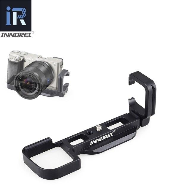 Innorel LB A6000 l 형 알루미늄 합금 퀵 릴리스 플레이트 삼각대 수직 l 브래킷 핸드 그립 sony a6000 전용 사용