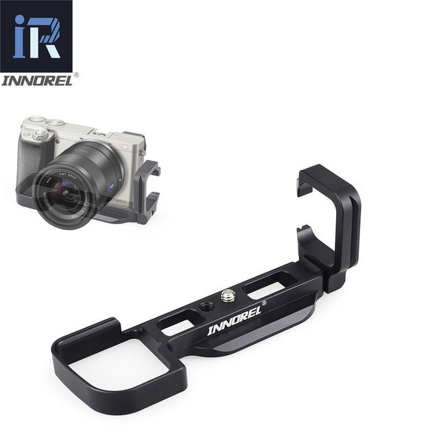Innorel LB A6000 l tipo liga de alumínio placa liberação rápida para tripé vertical l suporte aperto da mão uso exclusivo de sony a6000