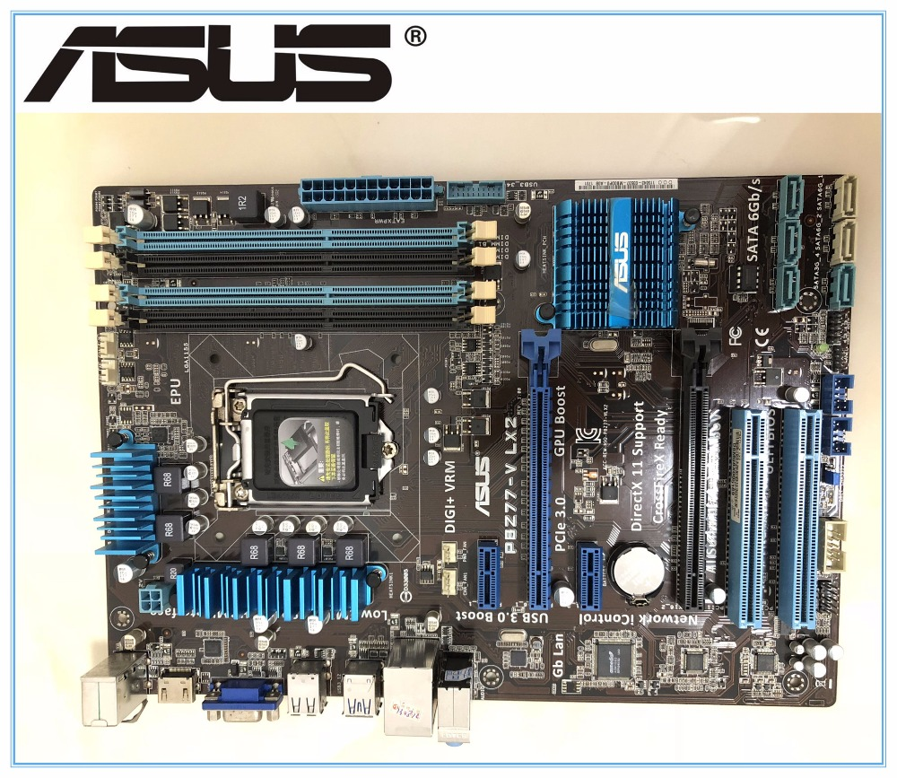 ASUS Original Used Motherboard  P8Z77-V LX2  DDR3 LGA 1155 For I3 I5 I7 CPU USB3.0 32GB Z77 SATA III PCI-E 3.0 Desktop Mainboard