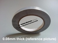 75mmx40M 0 08mm Thickness Single Side Heat Transfer Aluminum Foil Sticky Tape Fit For Pipe Wrap