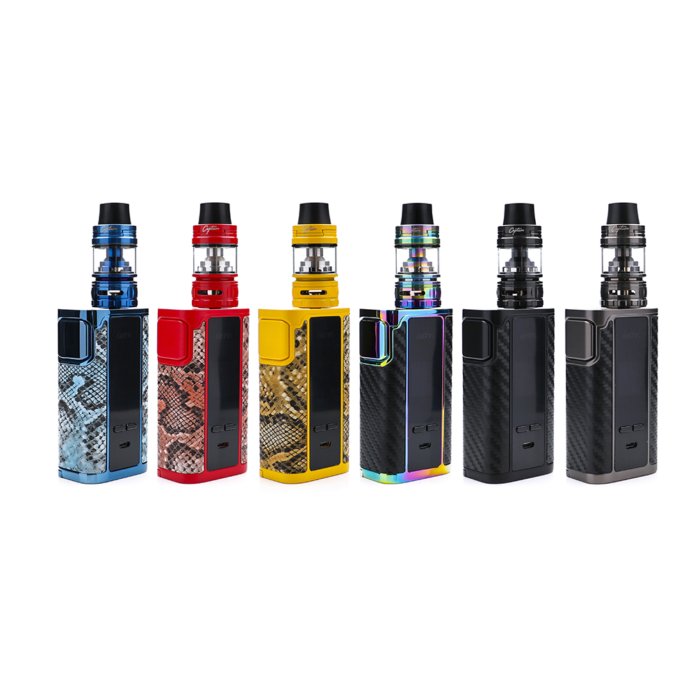 in stock IJOY Captain PD270 KIT With 20700 3000mAh batteries 234W Cgunmetaptain PD270 BOX MOD and 4ml Captain S subohm tank vape