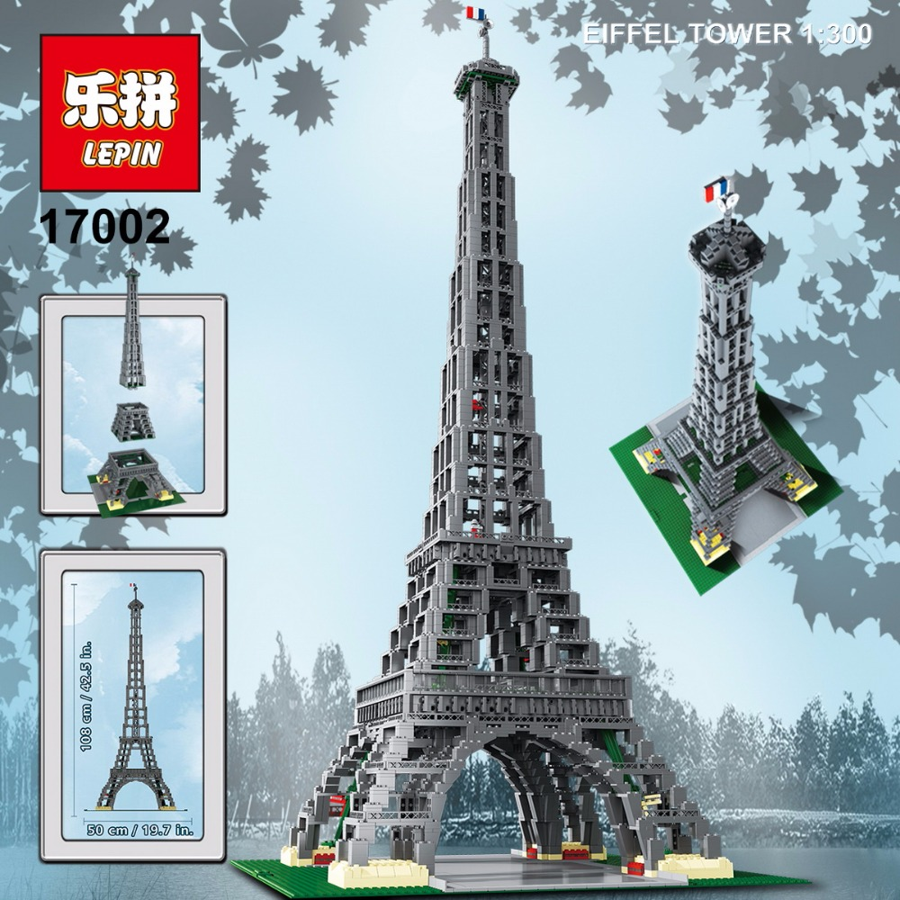 LEPIN 17002 City Street 3478pcs The Eiffel Tower Model Building Assembling Brick Toys Compatible 10181 birthday gifts toy gifts