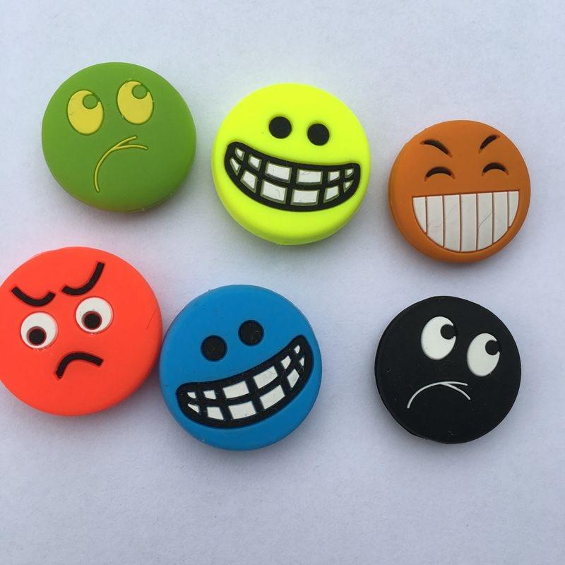 50 Pcs Lovely Funny Smiles Tennis Racket Shock Absorber To Reduce Tennis Racket Vibraton Dampeners Tennis