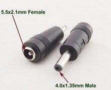 1 stücke DC Power Adapter 4,0mm x 1,35mm Stecker Auf 5,5mm x 2,1mm Weibliche Jack anschluss für Asus Ultrabook