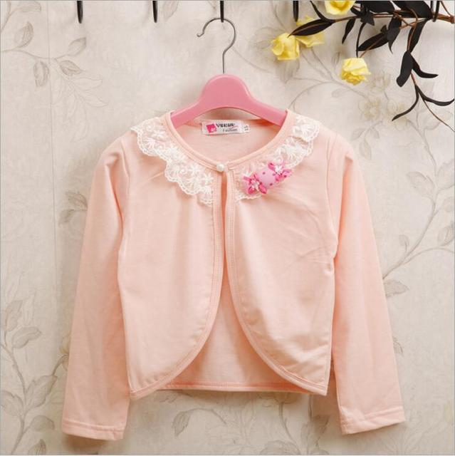 a32ebb6d5 2017 New 1 9Y Fashion Girls Cotton Cardigan Thin White Sweaters For ...
