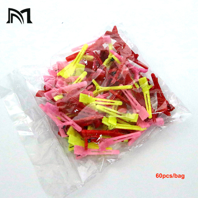 Купить с кэшбэком 60pcs/bag Special Hairdressing Positioning Hair Clip Wave Hair Clips Beauty Hairdressing Styling Hairpin Rollers Barber Tool A12