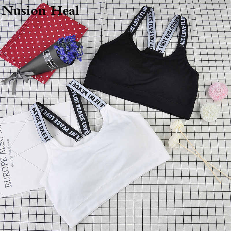 Letter Sports Bra Top Push Up Padded Sports Bra,Women Wirefree Fitness Top Sport Brassiere,Push Up Seamless Running Yoga Bra