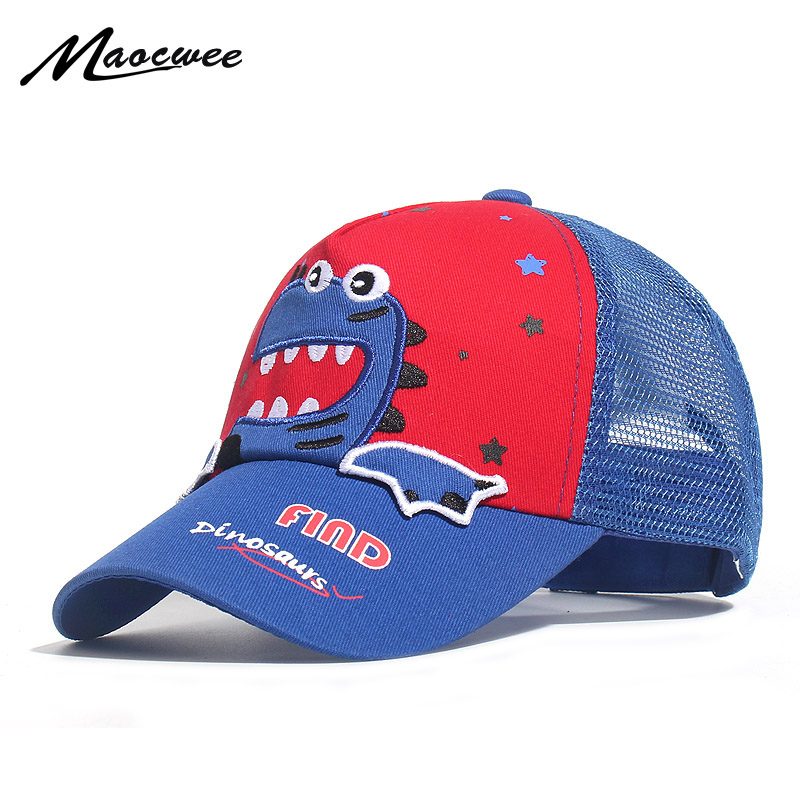 Children Shark Embroidered Baseball Caps Boy Girl Universal High Quality Outdoor Kids Shade Animal Driver Mesh Sun Hats 2019