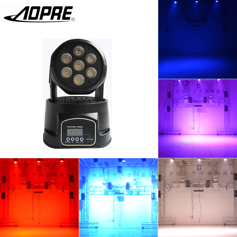 AOPRE RGBW Mixing Lighting Moving Head LED Stage Lighting effect DMX Spot light DMX 14CH 90W Wash Light For Disco Party 2RGBW-PD