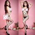 New Sexy Lingerie Fishnet Open Crotch Body Stocking Nightwear G-string Underwear Beauty Set