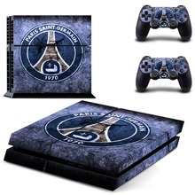 PSG PARIS SAINT-GERMAIN Football Team PS4 Skin Sticker Decal Vinyl for Sony Playstation 4 Console and 2 Controllers PS4 Sticker