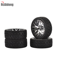RC Aluminium Alloy On Road Car Tyre Rubber Tyre & Wheel Rim for 1:10 HSP HPI RC Drift On Road Racing Car
