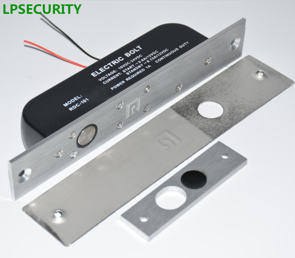 LPSECURITY Low Temperature Access Control System Electric 12V/24V Glass Door Lock Drop Bolt With Time Delay Function