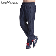 2017 New Mesh Loose Mens Exercise Pants With Pockets Quickly Dry Male Active Elastic Waist Pants Trousers Plus Size L-3XL