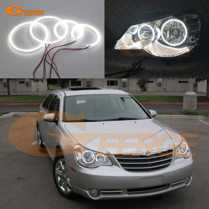 For Chrysler Sebring 2007 2008 2009 2010 headlight Excellent Ultra bright illumination smd led Angel Eyes kit Halo Rings