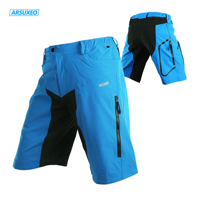 ARSUXEO Bicycle Shorts Men Outdoor Fitness MTB Climbing Sport Short Quick Dry Breathable   Waterproof Leisure Cycling Shorts