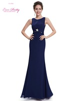 Ever Pretty Women S Party Dresses HE08691 Women S Elegant Sexy Navy Blue Long Sleeveless Evening