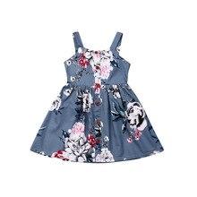 Girl Dress 2019 Infant Kids Baby Girls Summer Flower Sleevel
