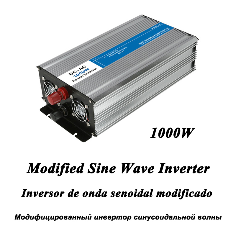 DC-AC 1000W Modified Sine Wave Inverter,LED Digital Display,with USB,DC to AC Frequency Converter Voltage Electric Power Supply digital display vehicle 2000w usb car power solar inverter converter 12v dc to ac 220v usb charger adapter portable voltage