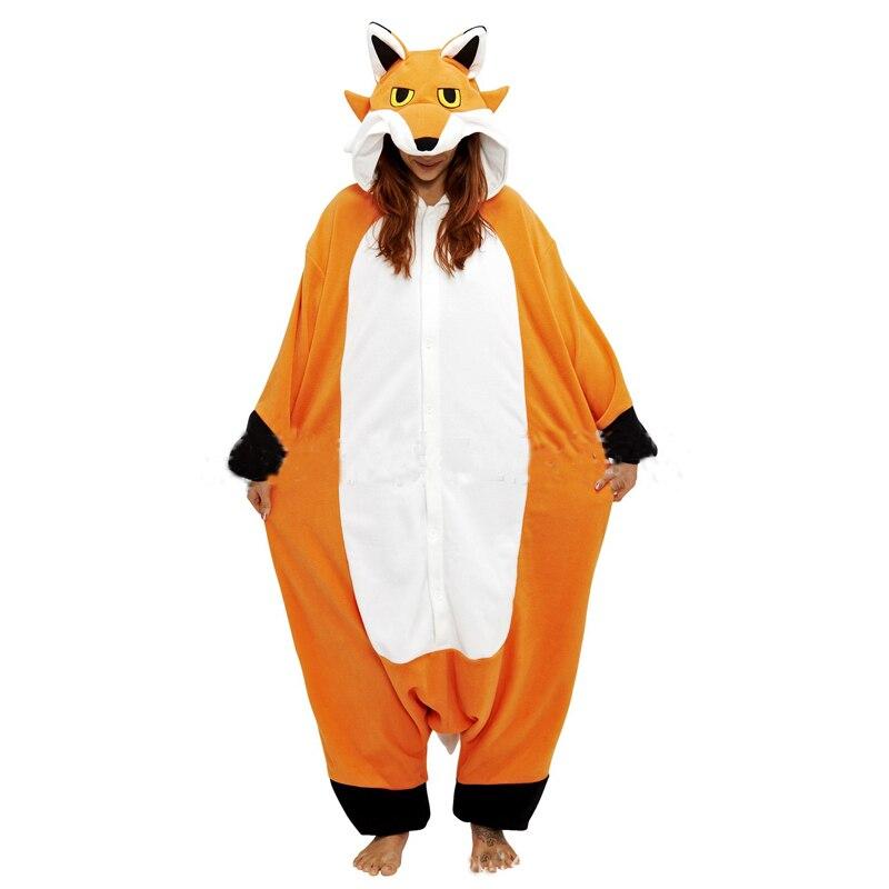 Nick Fox Onesies For Adults Pajamas Cartoon Orange Kigurumi Lowrie Sleepwear  Women Animal Cosplay