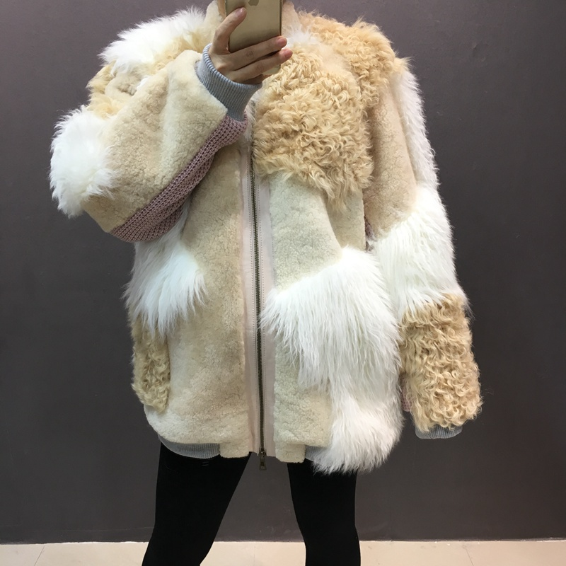 natural sheep fur coat real lamb fur (1)
