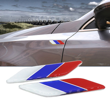 Car Styling Fashion 1Pair 3D Aluminum Russia Flag Fender Emblem Badge Car 3M Stickers For Fiat Alfa Romeo VW Audi Accessories