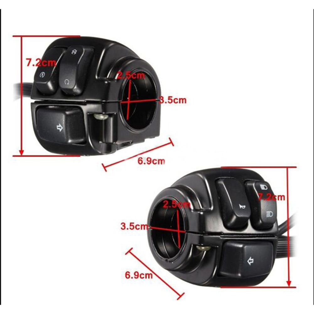 Black Control Switch 1 Handlebar 29 Wire Harness Turn Signals Harley Davidson Police Wiring Car Mb206 4 6