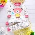 Favorito Dos Desenhos Animados Roupas Das Meninas para o Bebê Dormir Crianças Pijamas Ternos 100% Algodão Idade Para 6 M-4 T Crianças Conjuntos de Roupas Menino