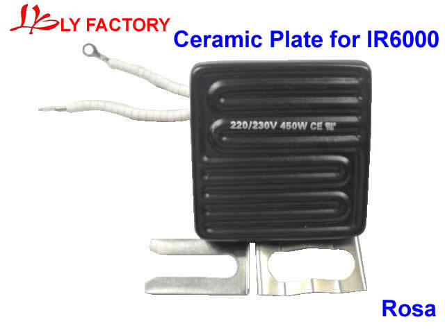 220/230V 450W 80*80mm Top Heater Ceramic Infrared Heater For IR6000/IR6500 BGA Rework Station 220v 210x100mm white ir infrared curved ceramic heater plate air heating board pad for bga station mould metal clip ptc heater