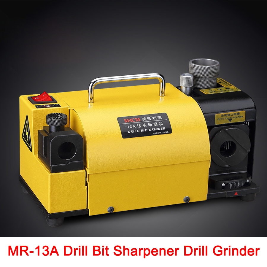 Free shipping by DHL MR 13A Drill Bit Sharpener Drill Grinder Grinding Machine portable carbide tools, 2 13mm 100 135Angle drill