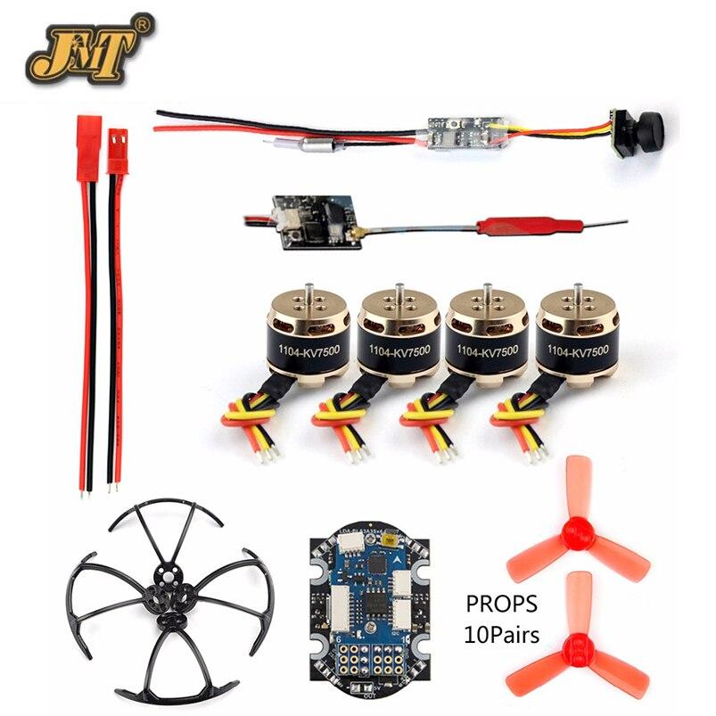 Bricolage RC Mini Racer FPV Drone kit avec récepteur R6DSM/X9D/FS-X6B/RFASB 25 mw 800TVL VTX + caméra 4in1 ESC F3 contrôleur de vol moteur