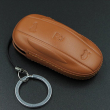 Leather Key Case Car Fob Holder For Tesla Model X /S Anti- dirty Smart Universal