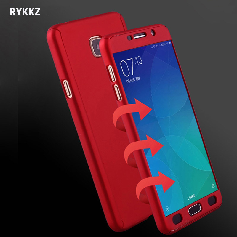 Case For <font><b>Samsung</b></font> <font><b>Galaxy</b></font> A3 A5 A7 2017 360 Full Body Protection Cover On <font><b>Galaxy</b></font> A 3 5 <font><b>7</b></font> <font><b>2016</b></font> Phone Coque + Tempered Glass Film image