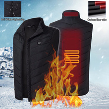 USB Sleeveless Vest Three-stage Electric Battery Heating Temperature Control Outdoor Jacket Motorcycle Vest Accessories
