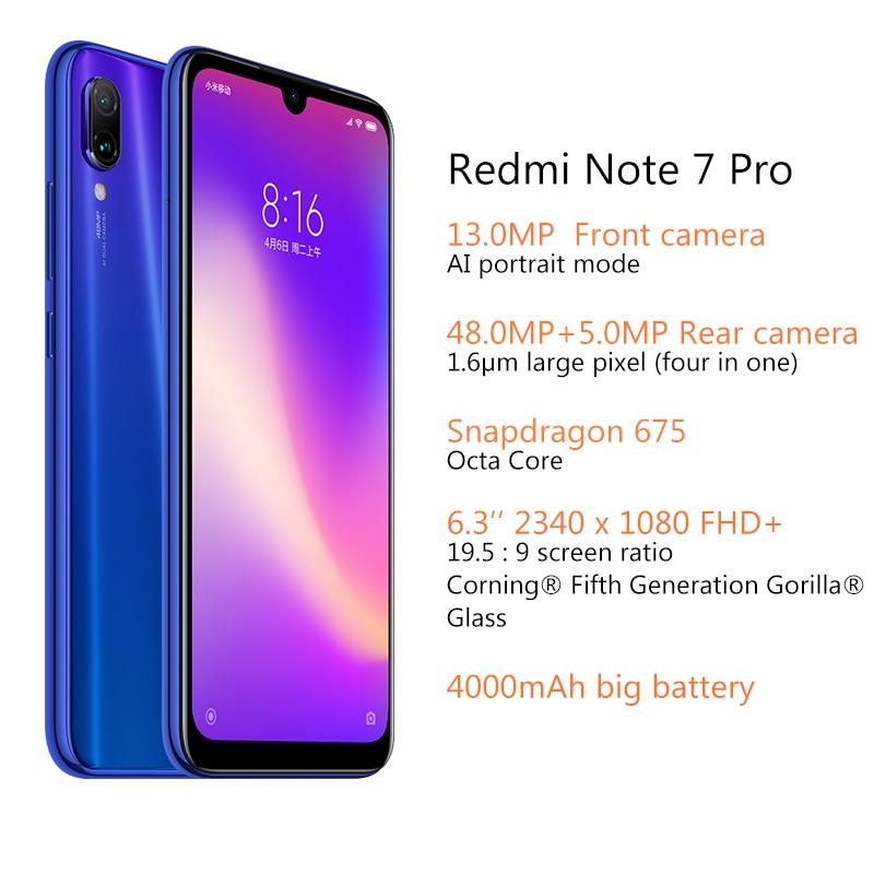 US $259 99 |Global ROM Xiaomi Redmi Note 7 Pro 6GB 128GB Snapdragon 675  Mobile Phone Octa Core 4000mAh 6 3