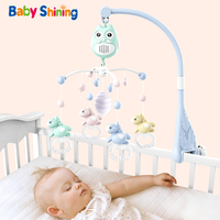 Baby Shining Baby Bed Bell Educational Toys Baby Rattles 0 24M Light Music Rotation Baby Bedside Ringing Puzzle Newborn Toys