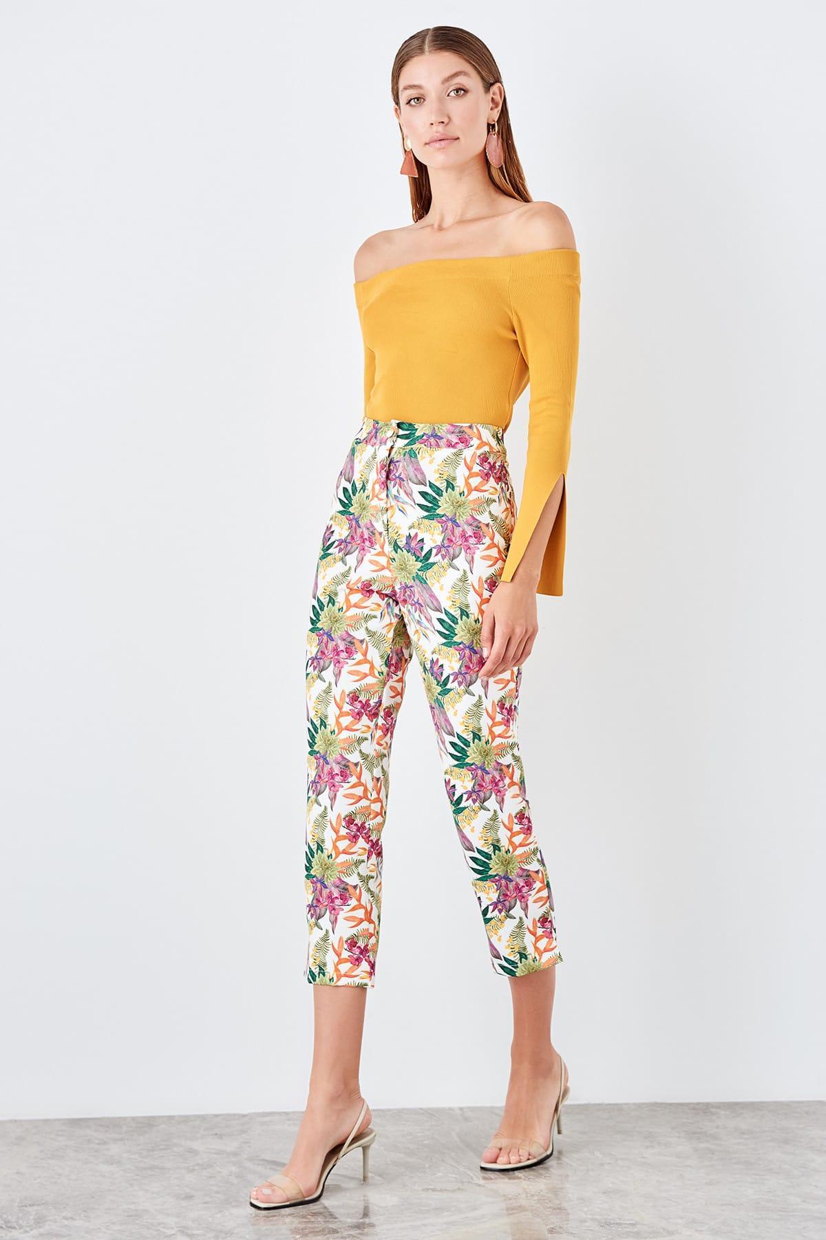 Trendyol Multicolour Pattern Pants TWOSS19PL0108