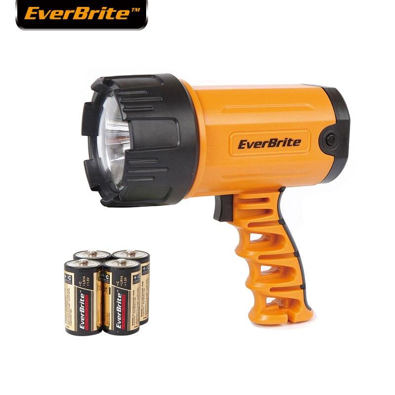 EVERBRITE 300 Lumens LED Projecteur Puissant LED lampe de Poche Zoomables Étanche Portable Projecteurs avec 4C batterie
